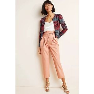 Anthropologie Chelsea Tapered Faux Leather Pants